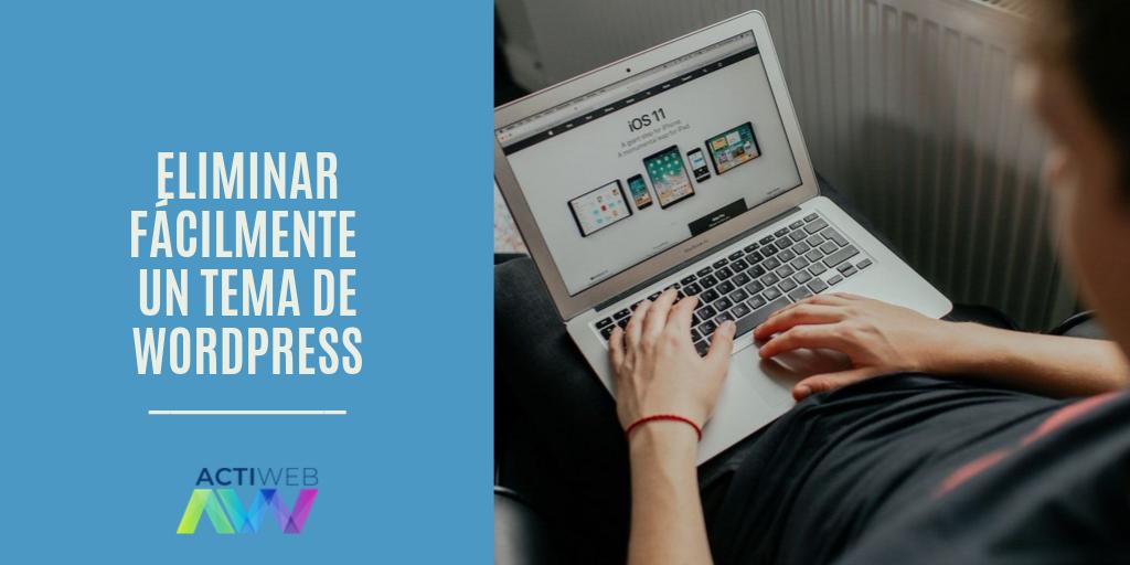 Eliminar fácilmente un tema de WordPress