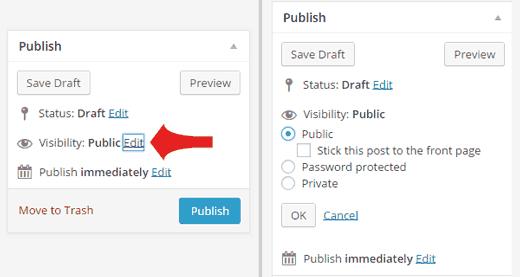 Cómo proteger con contraseña una publicación en WordPress
