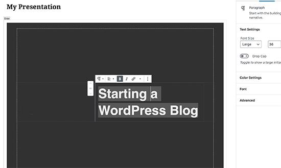 Cómo crear presentaciones utilizando WordPress