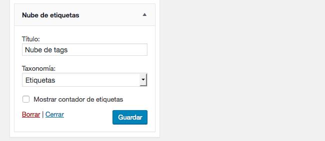 Cómo mostrar en WordPress los tags más usados