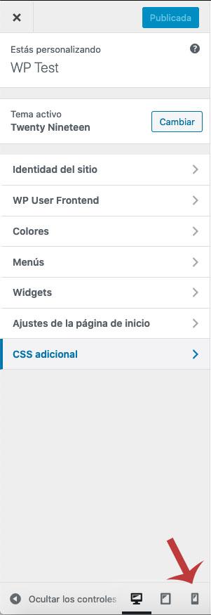 Cómo observar la versión móvil de un sitio de WordPress desde el ordenador