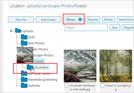 Cómo organizar archivos en carpetas de la biblioteca multimedia de WordPress